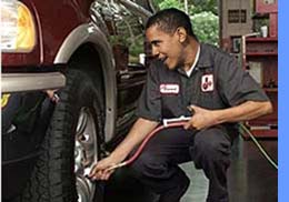 barrack filing tire with air