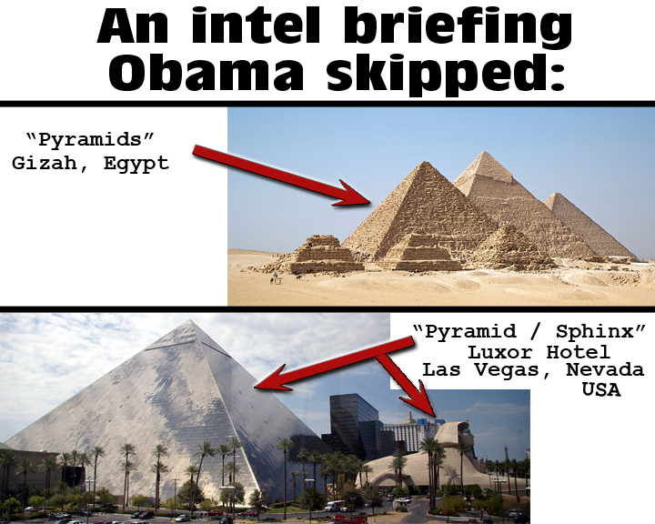 An intel briefing Obama skipped